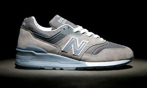 huge selection of 9594b d5474 Details about New Balance 997 Made in USA Grey White Sz 6 M997GY