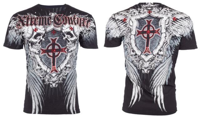 Xtreme Couture AFFLICTION Men T-Shirt PULVERIZE Tattoo Biker MMA UFC M-4XL $40 b
