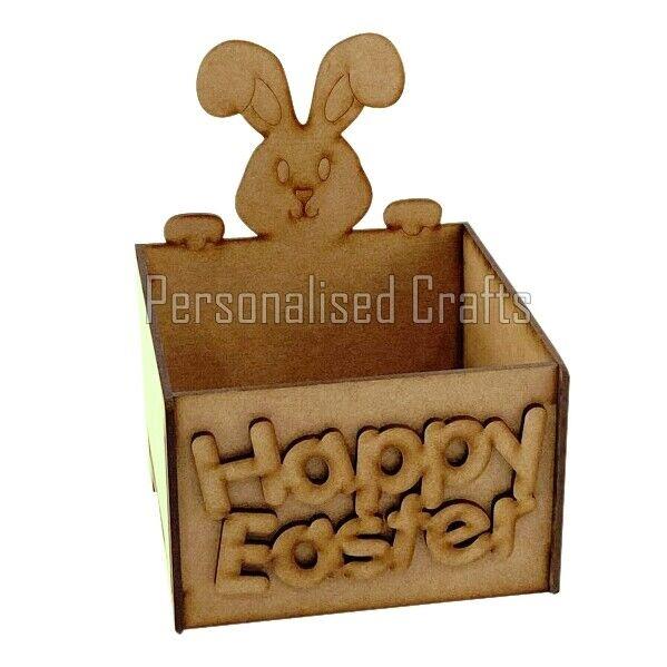 Easter Bunny Conejo Cesta de Regalo huevos de chocolate tratar caja contiene Chocolate & Dulces