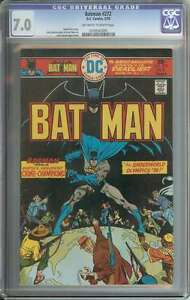 BATMAN #272 CGC 7.0 OW/WH PAGES
