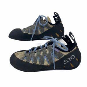 Five Ten Womens Stealth Onyx Siren Rock Climbing Shoes Gray Black Laces 6 EU 37