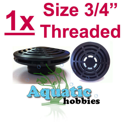 """1//2/"""" LOW PROFILE STRAINER Intake Suction Screen MPT Threaded Black ABS Fittings"""