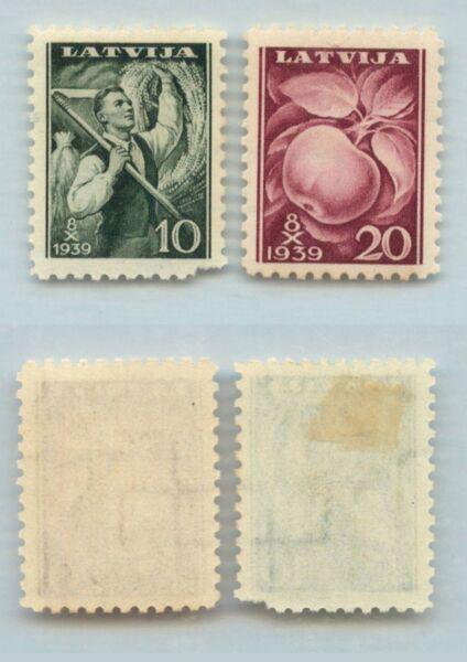 FidèLe Lettonie 1939 Sc 215-216 Comme Neuf. Rt3584