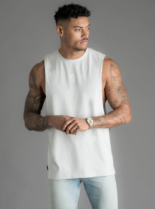 Gym-King-Mens-Designer-Longline-Casual-Vest-Tank-Top-T-Shirt-Tee-Sports