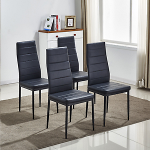 4pcs-Black-Faux-Leather-Dining-Chairs-Kitchen-Dinning-Room-Metal-Leg-Padded-Seat