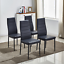 4pcs-Black-Faux-Leather-Dining-Chairs-Kitchen-Dinning-Room-Metal-Leg-Padded-Seat thumbnail 1