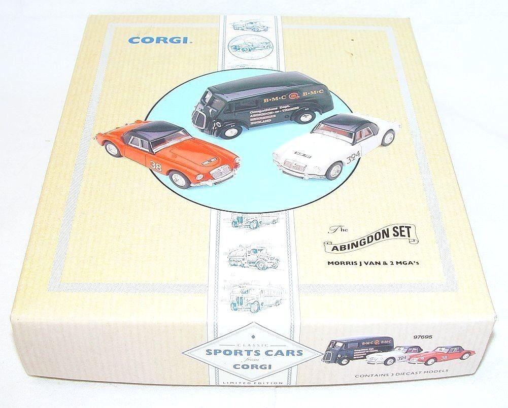 Corgi Toys Toys Toys 1 43 THE ABINGDON SET 2x MGA RALLY CAR & MORRIS J VAN Giftset MIB`92  049b3a