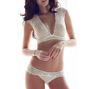 18a6c841e7 HOT Ultra-thin Lace Bra and Pantie Set Women Sexy Thin Underwear 32 ...