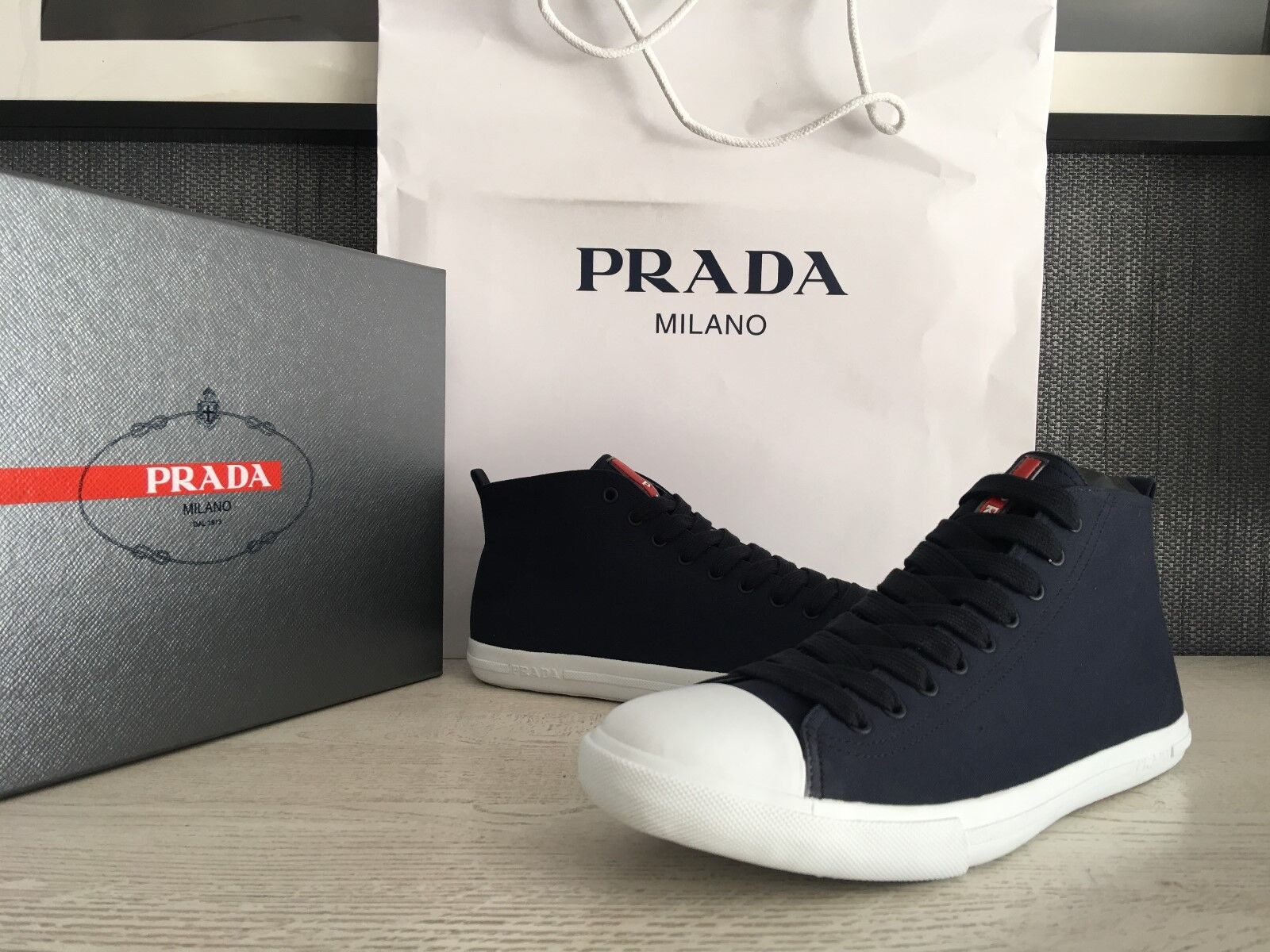 PRADA Men's Real Leather shoes Sz   US 13  NEW