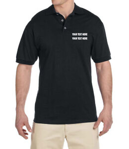 Details About Personalized Embroidered Custom Logo Text Polo Shirt Men Women Uniform Business
