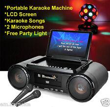 Mr Entertainer Party Box Máquina De Karaoke Con Construido En Pantalla Lcd