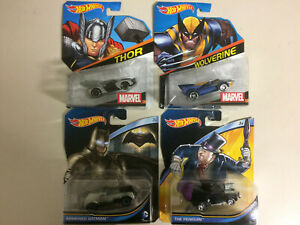 HOT-WHEELS-MARVEL-DC-COMICS-SUPERHEROES-CHARACTER-CAR-DIE-CAST-VEHICLE-1-64-NEW