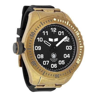 Vestal Diver Black Dial Black Silicone Mens Quartz Watch ZR4005