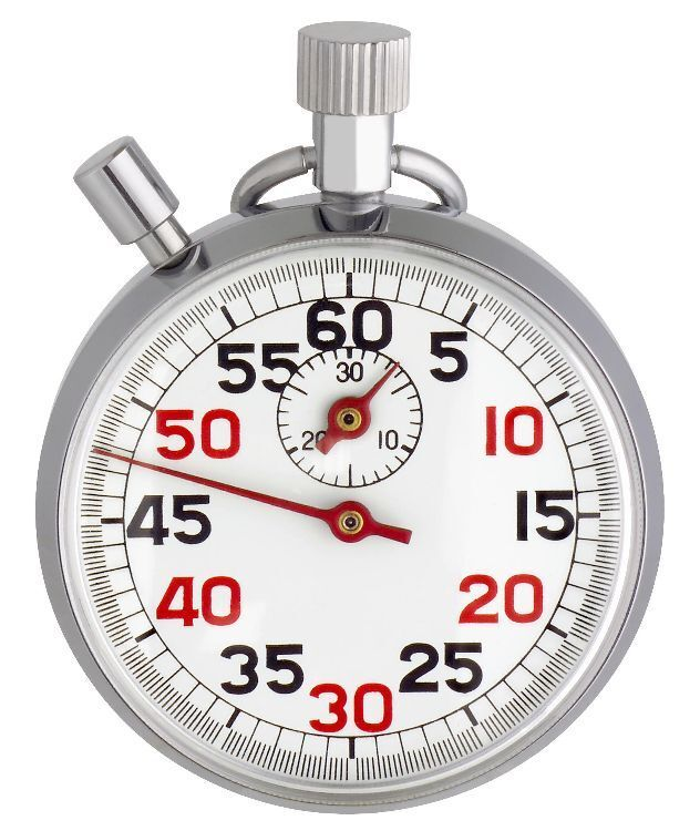 Stopwatch Metal Solid Chrome-Plated Tfa 38.1022 Hand Wound 30 Min 13 Stones 250