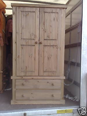 Furniture Aylesbury Double Pine 2 Drawer Wardrobe Special Price For Two Wardrobes Pure Whiteness