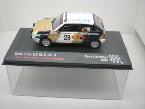 COCHE SEAT IBIZA 1.5 1:43 IXO rally Catalunya 1986 Graña
