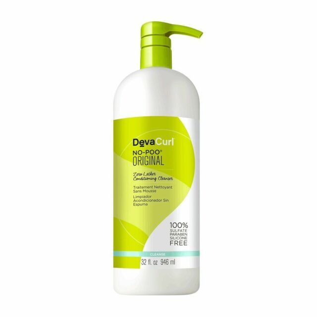 Devacurl No-Poo Original Cleanser; 32 oz New