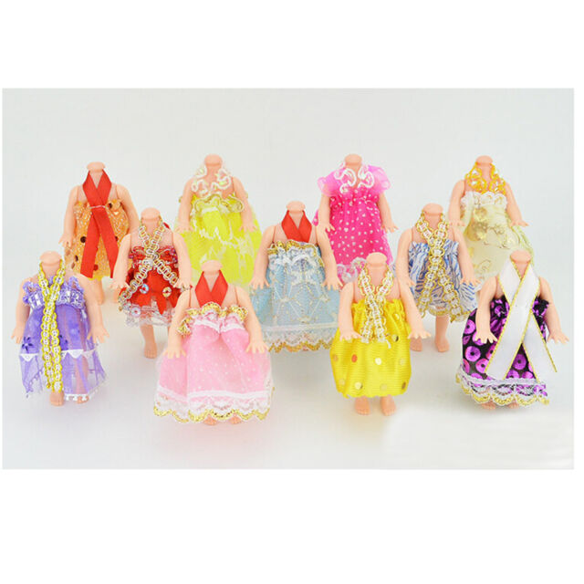 5x  Princess Party Dresses Clothes For 12cm Doll Fashion Dolls Accessories Nice