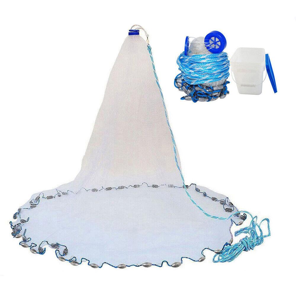 Saltwater Cast  Net 3 8  Mono Mesh 4ft-12ft Clear Bait Cast Fishing Net 0.75 1LB  enjoy 50% off