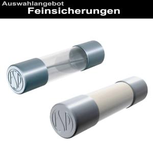 Glassicherung Feinsicherung 250V flink träge mittelträge 6.3x32mm 5x20mm
