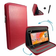 7 inch Case Cover Book For Samsung Galaxy Tab P1000 Tablet - Zipper 7'' Red