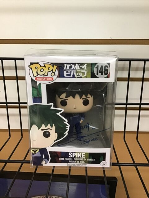 Funko POP! Animation Cowboy Bebop Spike #146 Signed By Steve Blum Britewood