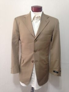 H79-HUGO-BOSS-36S-034-Angelico-Lucca-US-034-Suit-Jacket-Beige-Super-100-3-Button