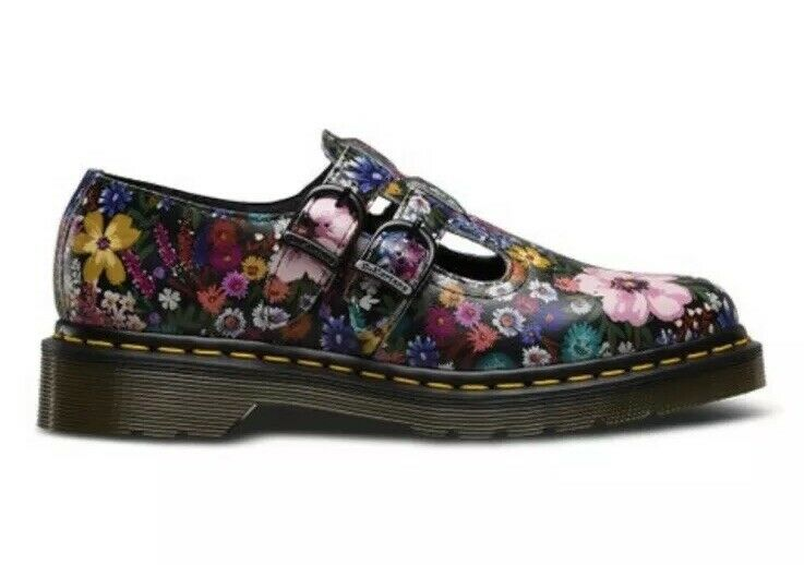 Dr Martens 8065 WL Weerlust Mary Jane doppio Strap donna US 6 Floral nuovo  120
