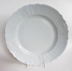 "Bernadotte White Embossed Rim 12.5/"" SERVING PLATTER made in Czech Republic NEW"