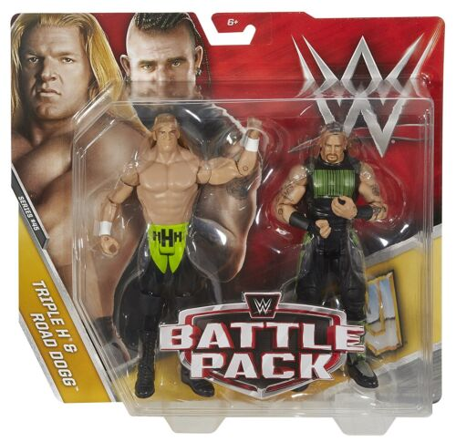 WWE BATTLE PACK TRIPLE H /& ROAD DOGG FIGURES #45 DXG33 *NEW*