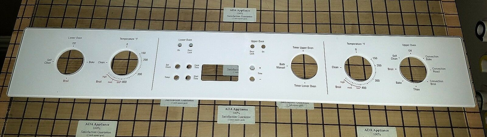 Bosch Oven Control Panel White  00438614, 1106154  SATISF GUAR FREE EXPD SHIP
