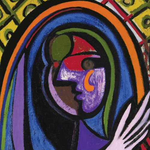 """24W/""""x30H/"""" GIRL BEFORE A MIRROR by PABLO PICASSO PREGNANT WOMAN REFLECTION CANVAS"""
