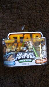 Star-Wars-Galactic-Heroes-General-Grievous-and-Obi-Wan-Kenobi-Hasbro-2005-NEW