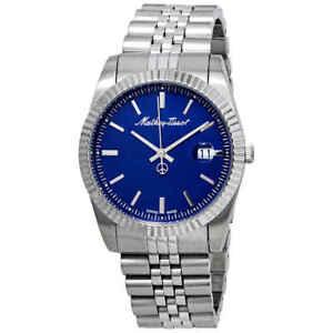 Mathey-Tissot-Mathey-III-Quartz-Blue-Dial-Men-039-s-Watch-H810ABU