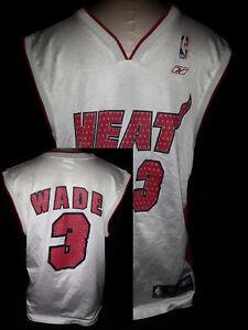 DWAYNE WADE  3 Miami Heat Jersey Womens Mens Size Medium White Nylon ... e64c709b3