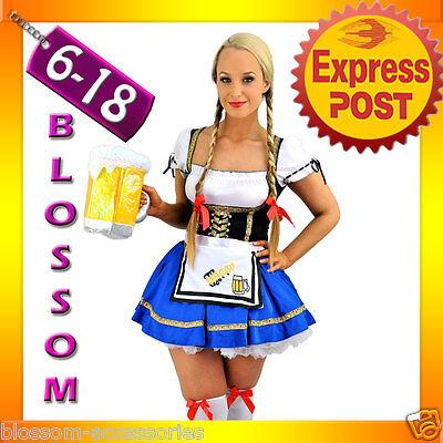 E41 Ladies Beer Maid Wench German Heidi Oktoberfest Gretchen Costume Outfit