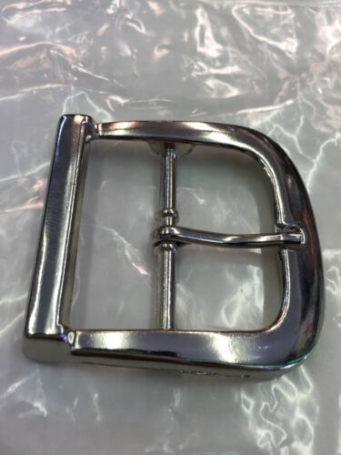 Plain Polished Silver Pin Belt Buckle for Snap on belts Police Security Style