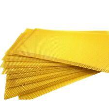 30 Yellow Beekeeping Honeycomb Wax Frames Foundation Honey Hive Equipment Tools