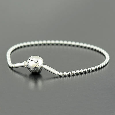 Authentic Pandora Silver Essence Collection Beaded Bracelet 17cm - 596002-17
