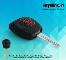 KeyZone Silicone Key Cover for Suzuki Swift, Dzire, SX4, Ertiga, Wagon-R (Black)