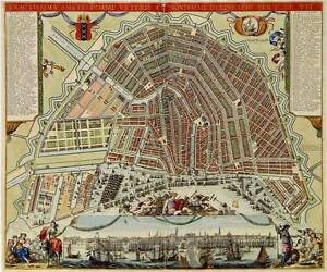 image about Printable Map of Amsterdam named Info concerning Replica Antique Map Application Print Metropolis of Amsterdam Netherlands by means of F de Wit
