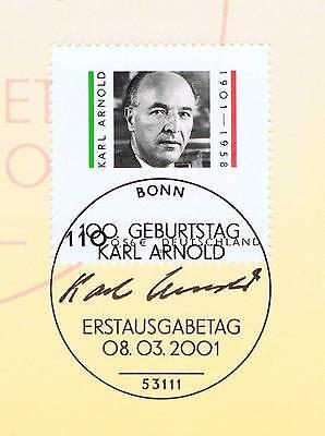 Brd 2001: Karl Arnold Nr. 2173 Mit Bonner Ersttags-sonderstempel! 1a Erhalten! Starke Verpackung