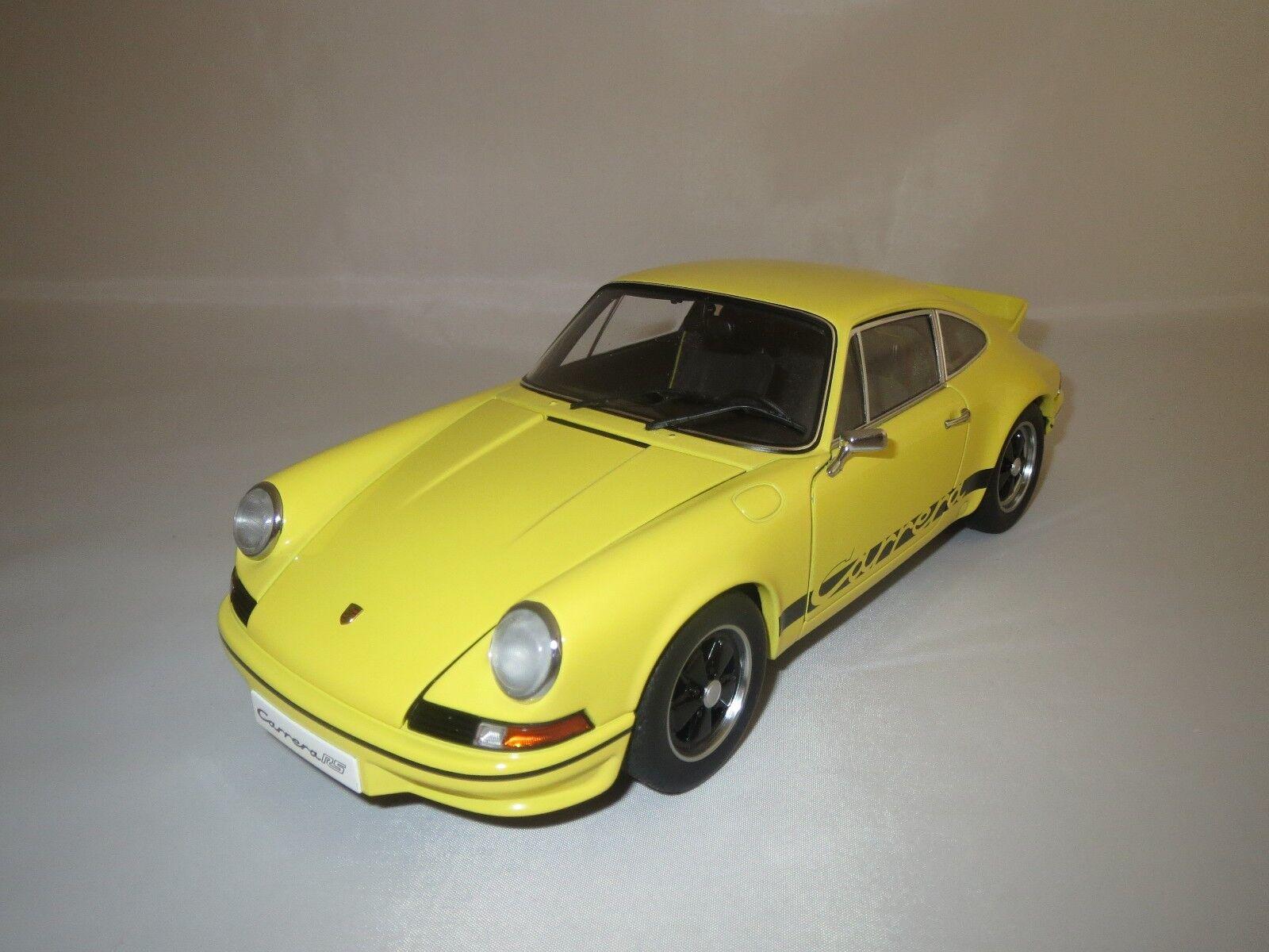 Autoart Porsche 911 carrera (amarillo negro) 1 18 sin embalaje