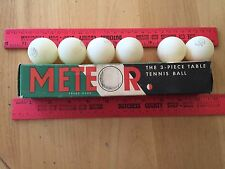 Vintage Meteor Table Tennis Ping Pong Balls Made In England box made in USA