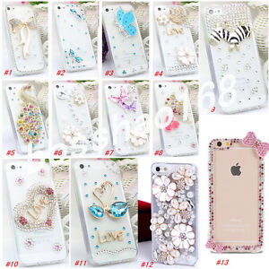 Glitter-Crystal-Bling-Rhinestone-Diamonds-hard-back-PC-Shell-Phone-Case-Cover-P