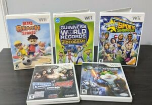 Wii Games lot of 5, Celebrity Sports Showdown, G-Force , Big beach sports & more