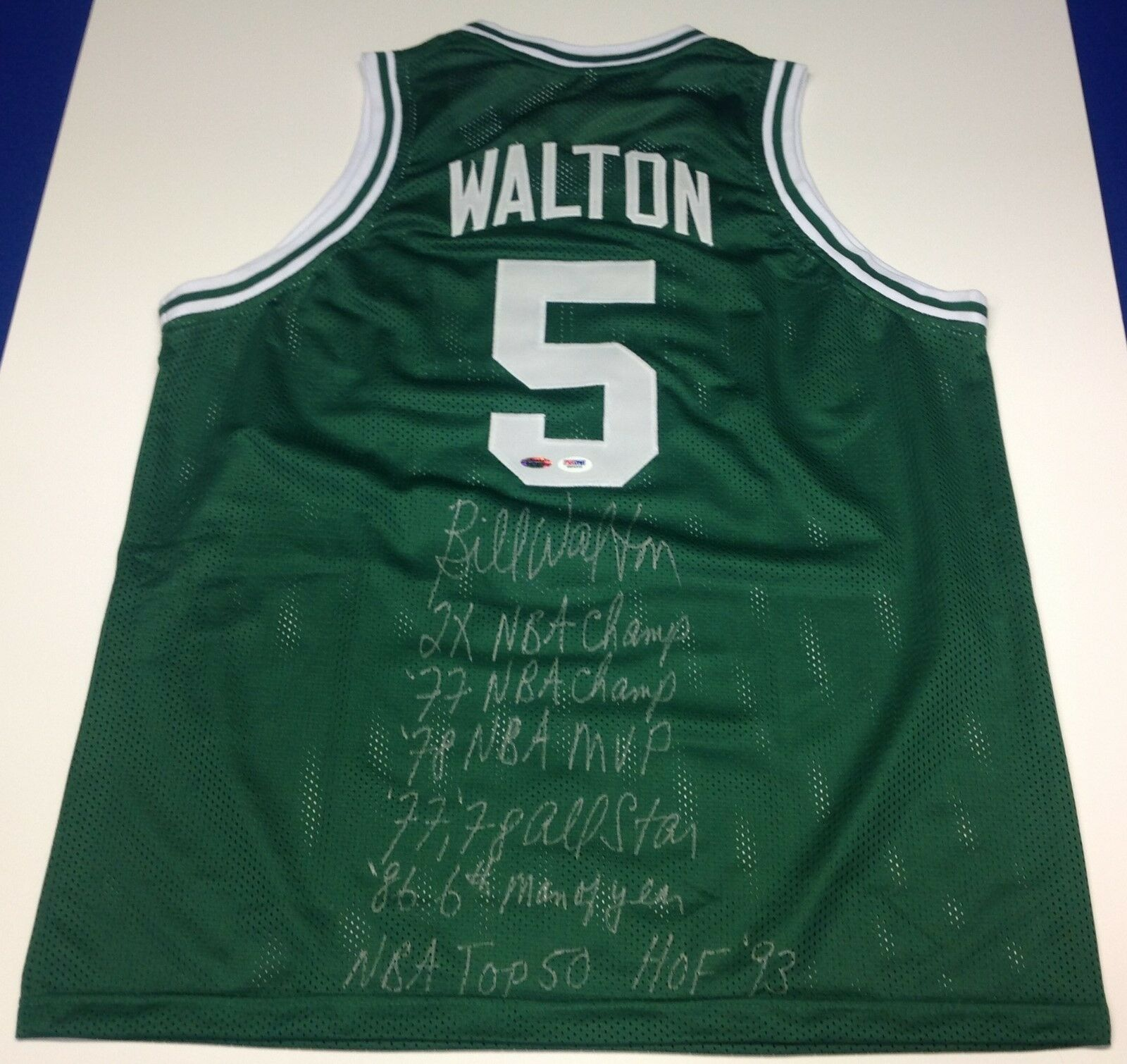 Bill Walton Autographed Boston Celtics Jersey With Career Stats!! PSA 6A84935