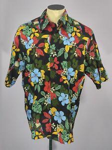 624be637 Joe Kealoha's by Reyn Spooner Toucan Jungle Print Hawaiian Shirt ...