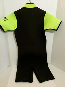 Neoprene-Wet-Suite-Men-039-s-Medium-Short-Sleeve-Leg-Zipper-Scuba-Snorkeling-Surfing