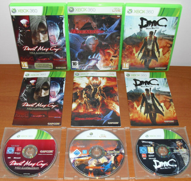 Devil May Cry Pack (1,2,3 Classics HD Collection,4,DMC ) Xbox 360,Pal- Spagna